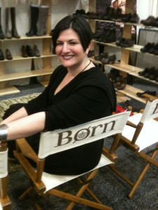 Paula at the Born booth