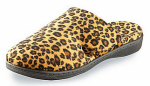 Orthaheel Gemma slippers in tan leopard